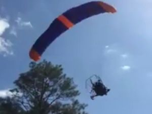 Powered parachute crash