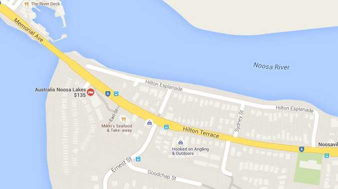 Map of an alleged drive-by shooting at Hilton Terrace, Noosaville.