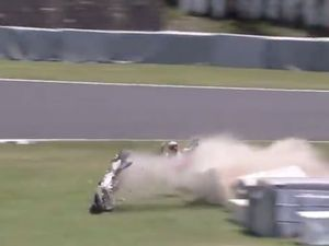 Casey Stoner's spectacular crash
