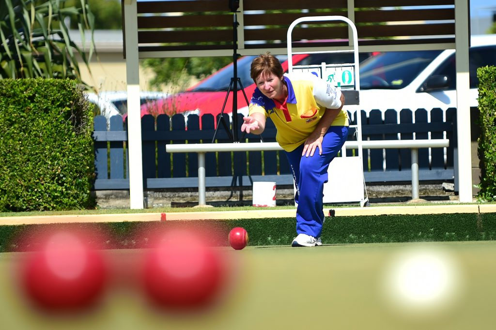 Brenda Balchin (pictured) and Marilyn Clayton had a narrow escape in the semi final with a last end 26-25 win against Caloundra's Donna Forrest and Bolivia Millerick.