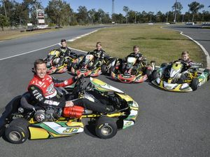Courtney switches v8s for karts