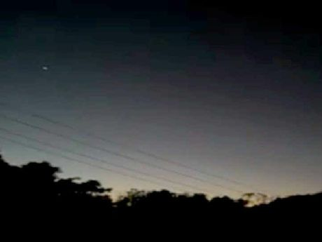 ALIEN VIDEO: Two floating lights were caught on film flying over Eungella at the weekend.