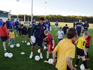 Newcastle Jets train in Coffs Harbour