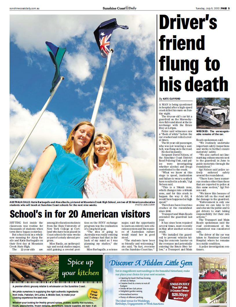 Sunshine Coast Daily coverage of the July 7, 2013 crash.