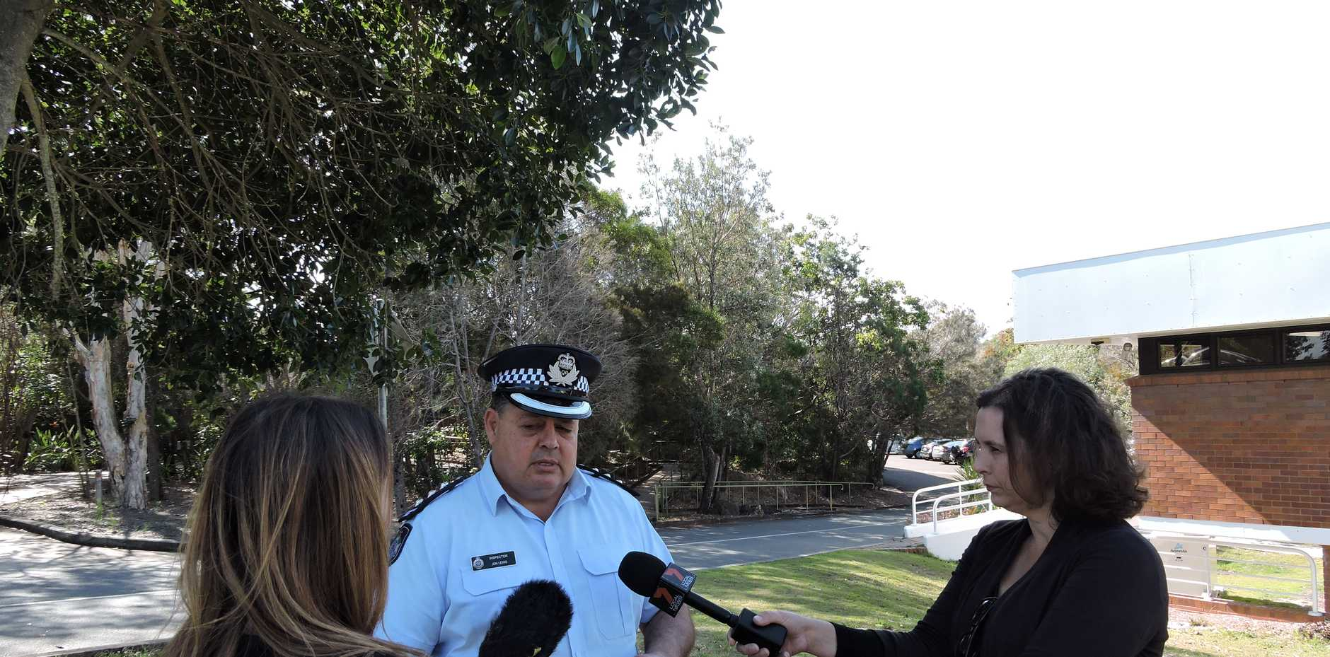 Inspector Jon Lewis briefs the media on the latest leads in the Noosa shooting.
