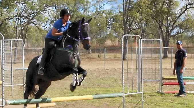 Amy Golchert on her horse Lethal Rose.