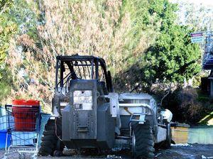 Security stepped up at Lismore worksite after forklift burnt