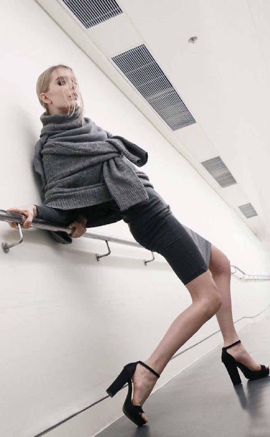 STUNNING: Former Sarina girl Riaz Vickers modelling in Hong Kong.