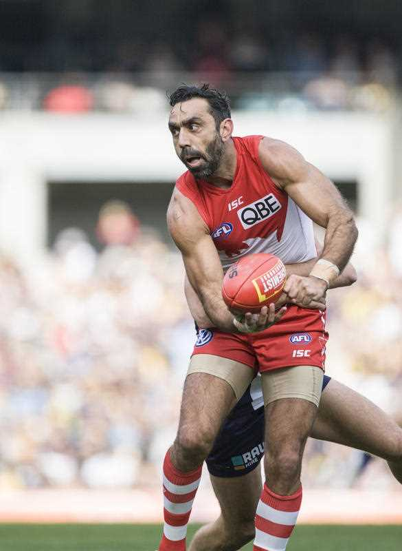 Adam Goodes being the real racist here.