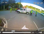Dash cam on tow truck at accident captures second collision
