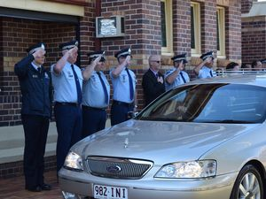 TRIBUTE: Dalby police officer given guard of honour