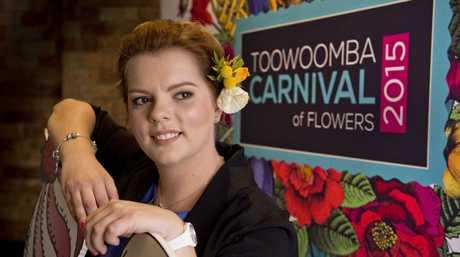2015 Carnival of Flowers ambassador April Lancaster-Smith.