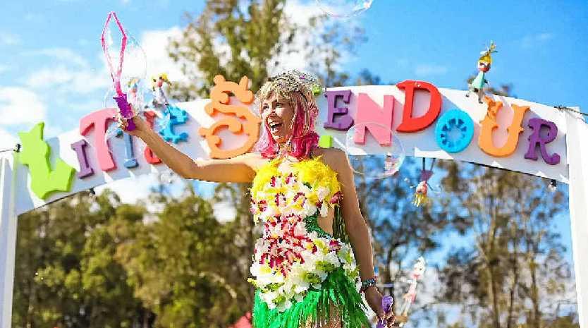 A performer at Little Splendour, the festival's space for children.