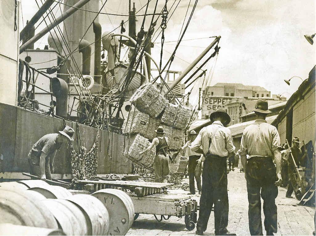 AS WE WERE: Early shipping fleet, Queensland. INSET: Benjamin Wickham MacDonald.