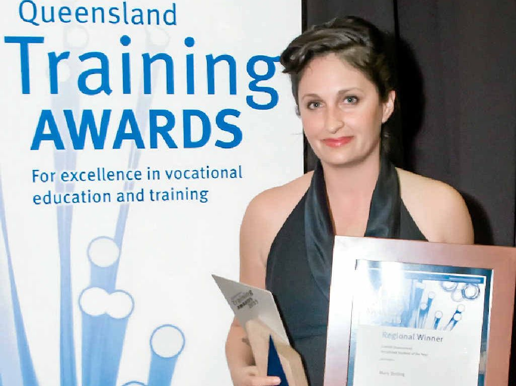 TOP AWARD: Gladstone woman Mary Bolling has won the vocational student of the year for Central Queensland in the Queensland Training Awards.