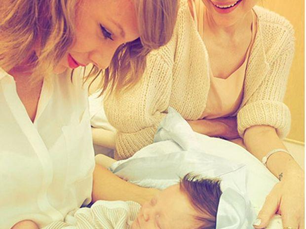 Taylor Swift with godson Leo