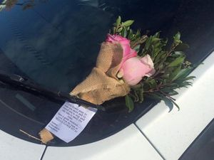 Random acts of flower kindness surprise shoppers