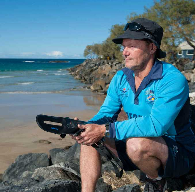 TAKE CARE: Coffs Harbour City Council lifeguard Greg Hackfath on North Wall Beach.