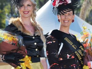 Frock up for cup day, ladies