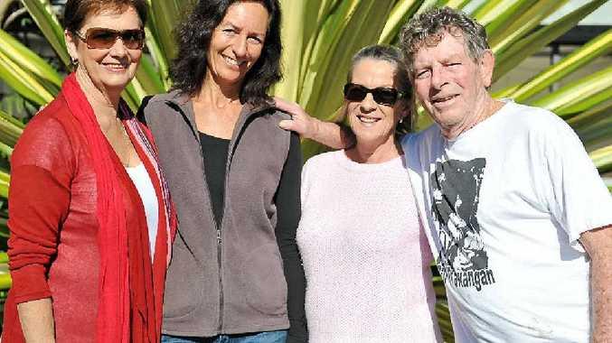 BIDDING FAREWELL: Denise Ferne, Judy Luckie, Kerrie Murray and Gary Cockbain.