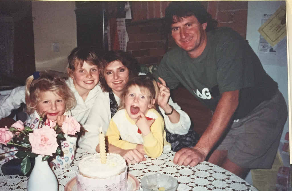 PARTY TIME: Toni and Peter McClymont at one of the many birthdays celebrated with the girls Samantha, Brooke and Mollie.