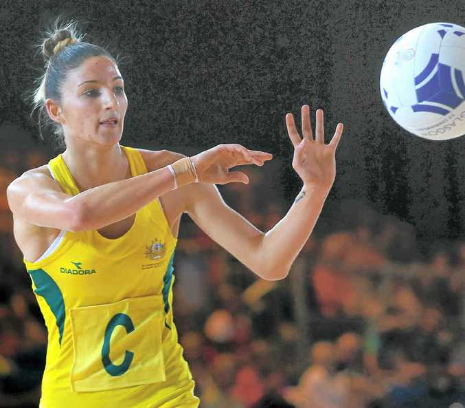 ON COURT: Kimberley Ravaillion is ready to go for the Diamonds.