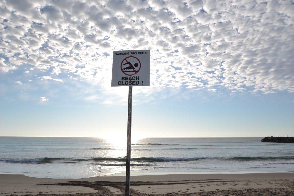 Lighthouse Beach at Ballina has been closed following a shark sighting.