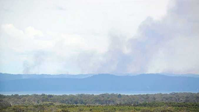 SMOKE HAZE: A burn-off is scheduled on Fraser Island over the next week.