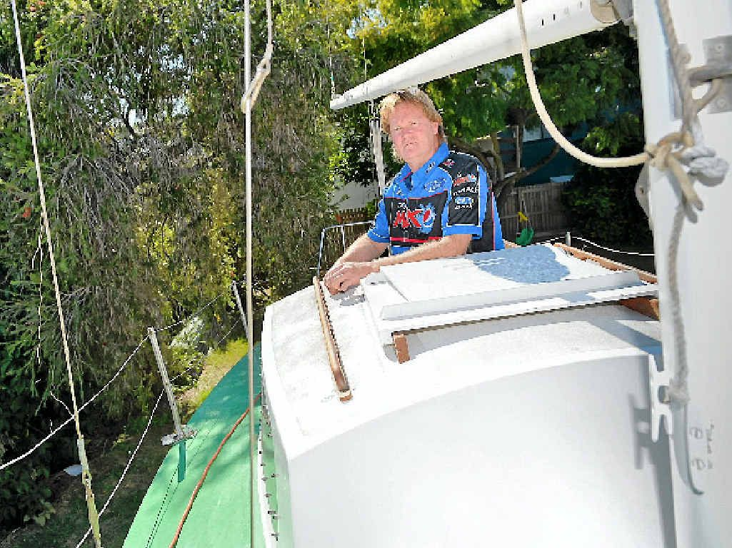DREAM BOAT: Noel Ingrey has spent 20 years rebuilding a yacht, and he's now adding the finishing touches.