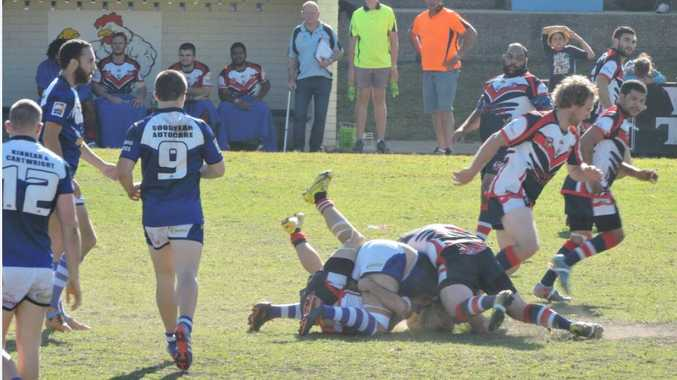 Swarming defence was one of the better features of Nambucca's semi final win over the Sea Eagles.
