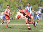 Swans Jake King in the AFL game between Yeppoon and Brothers at Kele Park on Saturday. Photo: Chris Ison / The Morning Bulletin