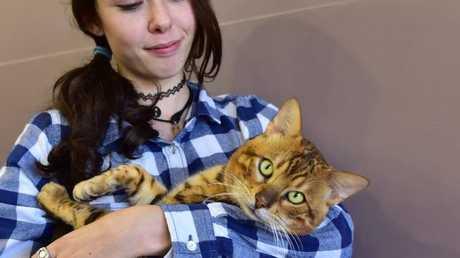 Jasmine McKoy with Kimba.