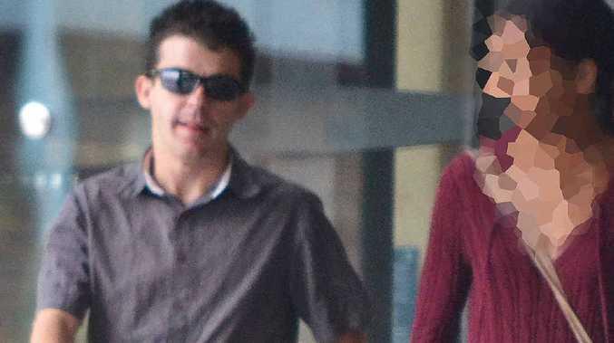 COURT DATE: Clint Graham Baranyai outside the Ipswich Courthouse.