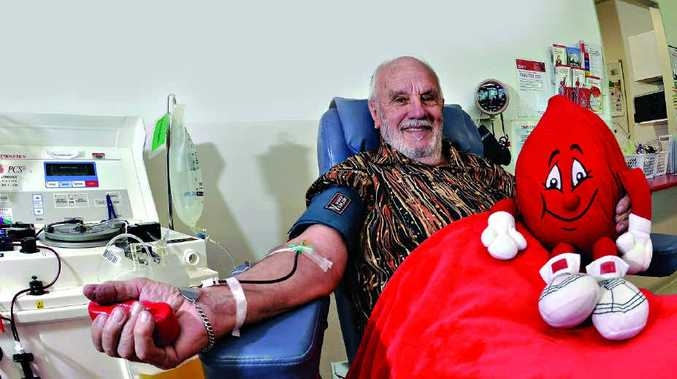 AWESOME EFFORT: James Harrison has been donating plasma nearly every week for the past 60 years. He made his 1109th donation last week in Maroochydore.