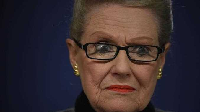 Speaker of the House of Representatives Bronwyn Bishop speaks to the media at a news conference in Sydney, Saturday, July 18, 2015.
