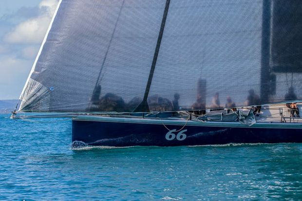 Philip Turner's 66-footer Alive claimed an unopposed line honours victory in the Club Marine Brisbane to Keppel Tropical Yacht Race trophy cabinet.