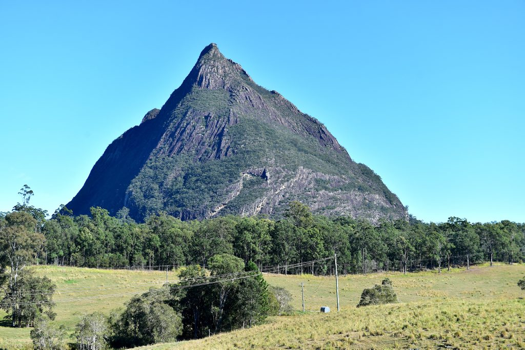 MOUNT BEERWAH: The climber fell when descending the mountain and was not able to get himself out.