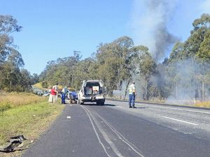 Multi-vehicle crash near Glenugie