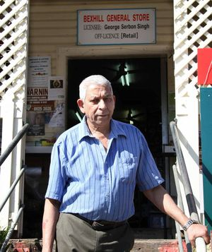 PETTY THEFT: Bexhill General Store owner George Singh outside his shop which was broken into in the early hours of Monday.