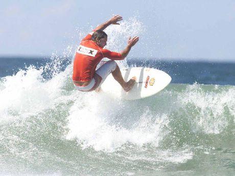 Sasha Stocker surfing in 2003.