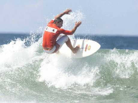 Sasha Stocker surfing in 2003.