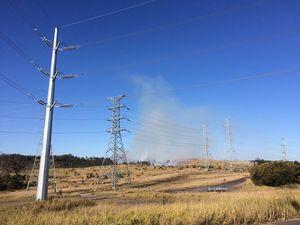 Grass fire at Swanbank