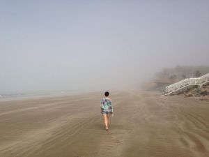 Lammermoor beach this afternoon with fog