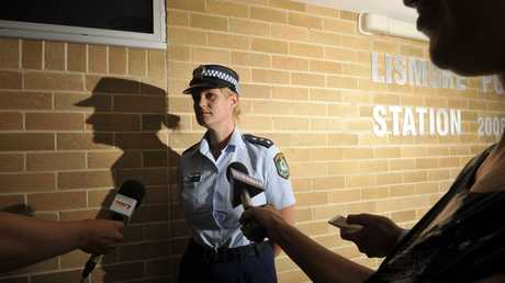 Detective Sergeant Bernadette Ingram briefs the media.