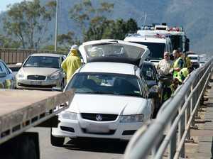 Three vehicle car crash on Fitzroy River Bridge