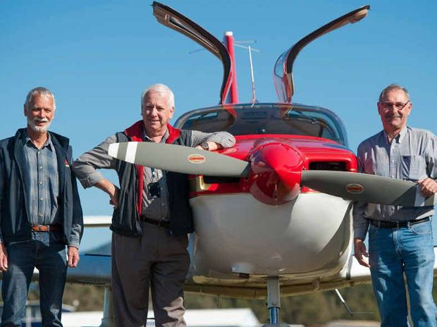 AIRBORNE: Warren Millar, Geoff Leaver and John Harris are hoping to raise $27,000 for the Royal Flying Doctor Service. An open day will be held at the Aero Club on August 16.