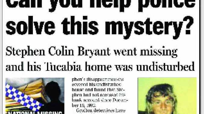 An earlier The Daily Examiner report about the disappearance of Stephen Bryant from Tucabia in 1993.