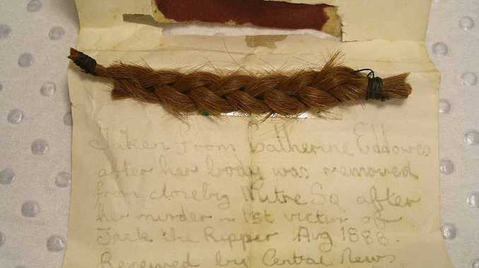 COLD HARD EVIDENCE: This is Professor Ian Findlay's evidence from the scene where he examined a letter believed to have been written by Jack the Ripper. With it was a braided lock of hair belonging to Catherine Eddowes.