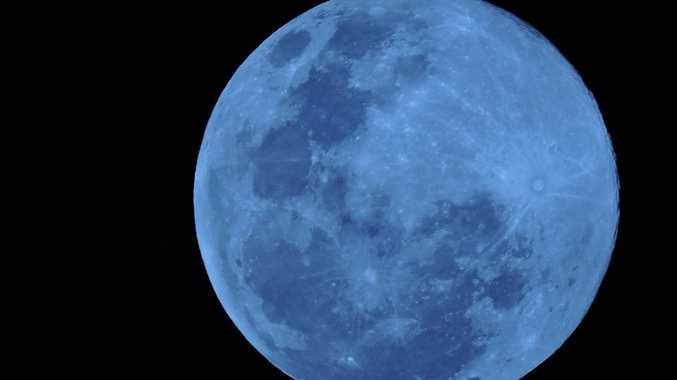 Blue moon, July 31, 2015.