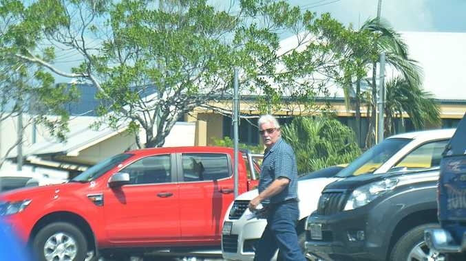 Alan John Cush leaves the Mackay Court House. FILE PHOTO